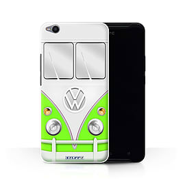 STUFF4 Phone Case/Cover for HTC One X9/Green Design/VW Camper Van Collection Mobile phones