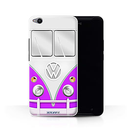 STUFF4 Phone Case/Cover for HTC One X9/Purple Design/VW Camper Van Collection Mobile phones
