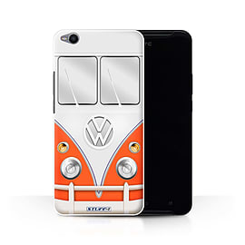 STUFF4 Phone Case/Cover for HTC One X9/Red Design/VW Camper Van Collection Mobile phones