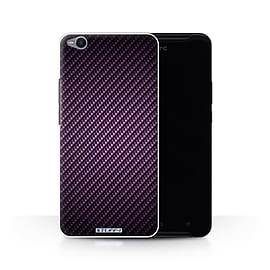 STUFF4 Phone Case/Cover for HTC One X9/Purple Design/Carbon Fibre Effect/Pattern Collection Mobile phones