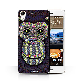 STUFF4 Phone Case/Cover for HTC Desire 728/Monkey-Colour Design/Aztec Animal Design Collection Mobile phones