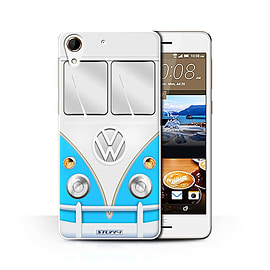 STUFF4 Phone Case/Cover for HTC Desire 728/Blue Design/VW Camper Van Collection Mobile phones