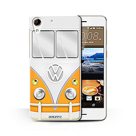 STUFF4 Phone Case/Cover for HTC Desire 728/Orange Design/VW Camper Van Collection Mobile phones