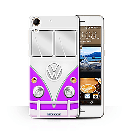 STUFF4 Phone Case/Cover for HTC Desire 728/Purple Design/VW Camper Van Collection Mobile phones