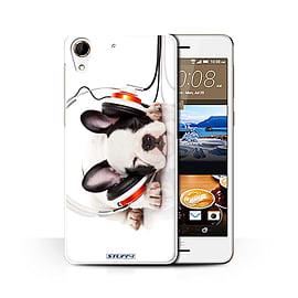 STUFF4 Phone Case/Cover for HTC Desire 728/Snooze Headphone Dog Design/Funny Animals Collection Mobile phones