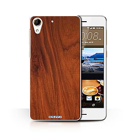 STUFF4 Phone Case/Cover for HTC Desire 728/Mahogany Design/Wood Grain Effect/Pattern Collection Mobile phones
