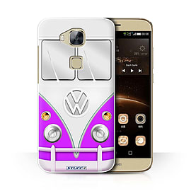 STUFF4 Phone Case/Cover for Huawei G7 Plus/Purple Design/VW Camper Van Collection Mobile phones