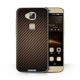 STUFF4 Phone Case/Cover for Huawei G7 Plus/Gold Design/Carbon Fibre Effect/Pattern Collection Mobile phones