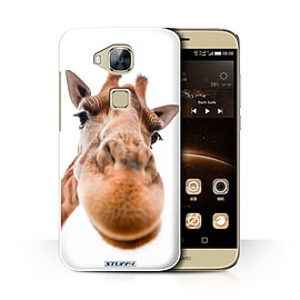 STUFF4 Phone Case/Cover for Huawei G7 Plus/Closeup Giraffe Design/Funny Animals Collection Mobile phones