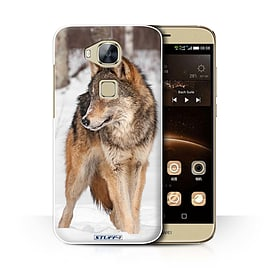 STUFF4 Phone Case/Cover for Huawei G7 Plus/Wolf Design/Wildlife Animals Collection Mobile phones