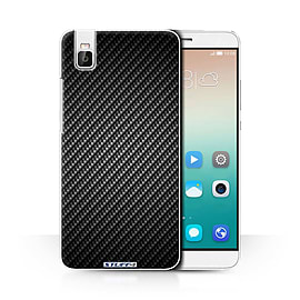 STUFF4 Phone Case/Cover for Huawei Honor 7i/ShotX/Grey Design/Carbon Fibre Effect/Pattern Collection Mobile phones
