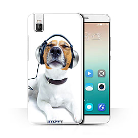 STUFF4 Phone Case/Cover for Huawei Honor 7i/ShotX/Chillin Headphone Dog/Funny Animals Collection Mobile phones