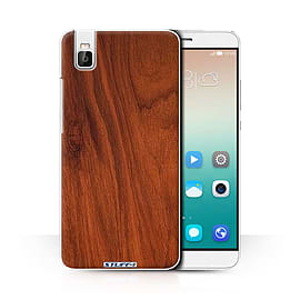 STUFF4 Phone Case/Cover for Huawei Honor 7i/ShotX/Mahogany/Wood Grain Effect/Pattern Collection Mobile phones