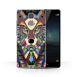STUFF4 Phone Case/Cover for Huawei Mate S/Wolf-Colour Design/Aztec Animal Design Collection Mobile phones