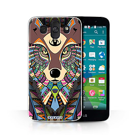 STUFF4 Phone Case/Cover for LG AKA/H788/Wolf-Colour Design/Aztec Animal Design Collection Mobile phones