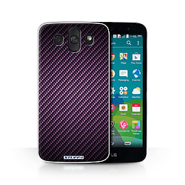 STUFF4 Phone Case/Cover for LG AKA/H788/Purple Design/Carbon Fibre Effect/Pattern Collection Mobile phones