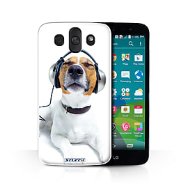 STUFF4 Phone Case/Cover for LG AKA/H788/Chillin Headphone Dog Design/Funny Animals Collection Mobile phones