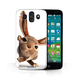 STUFF4 Phone Case/Cover for LG AKA/H788/Peeking Bunny Design/Funny Animals Collection Mobile phones