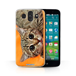 STUFF4 Phone Case/Cover for LG AKA/H788/Big Eye Cat Design/Funny Animals Collection Mobile phones