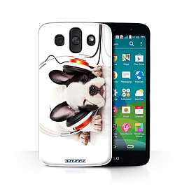 STUFF4 Phone Case/Cover for LG AKA/H788/Snooze Headphone Dog Design/Funny Animals Collection Mobile phones