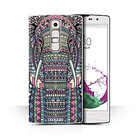 STUFF4 Phone Case/Cover for LG G4c/H525N/Elephant-Colour Design/Aztec Animal Design Collection Mobile phones