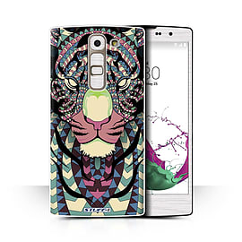 STUFF4 Phone Case/Cover for LG G4c/H525N/Tiger-Colour Design/Aztec Animal Design Collection Mobile phones