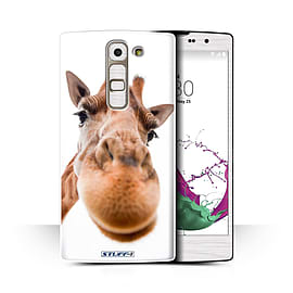 STUFF4 Phone Case/Cover for LG G4c/H525N/Closeup Giraffe Design/Funny Animals Collection Mobile phones