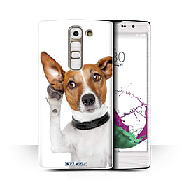 STUFF4 Phone Case/Cover for LG G4c/H525N/Listening Dog Design/Funny Animals Collection Mobile phones