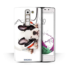 STUFF4 Phone Case/Cover for LG G4c/H525N/Snooze Headphone Dog Design/Funny Animals Collection Mobile phones