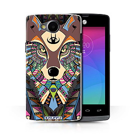 STUFF4 Phone Case/Cover for LG Joy/H220/Wolf-Colour Design/Aztec Animal Design Collection Mobile phones