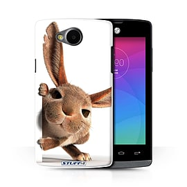 STUFF4 Phone Case/Cover for LG Joy/H220/Peeking Bunny Design/Funny Animals Collection Mobile phones