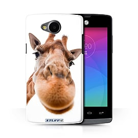 STUFF4 Phone Case/Cover for LG Joy/H220/Closeup Giraffe Design/Funny Animals Collection Mobile phones