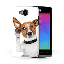 STUFF4 Phone Case/Cover for LG Joy/H220/Listening Dog Design/Funny Animals Collection Mobile phones