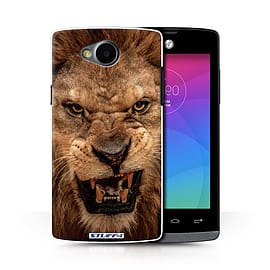 STUFF4 Phone Case/Cover for LG Joy/H220/Lion Design/Wildlife Animals Collection Mobile phones