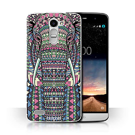 STUFF4 Phone Case/Cover for LG Ray/X190/Elephant-Colour Design/Aztec Animal Design Collection Mobile phones