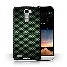 STUFF4 Phone Case/Cover for LG Ray/X190/Green Design/Carbon Fibre Effect/Pattern Collection Mobile phones