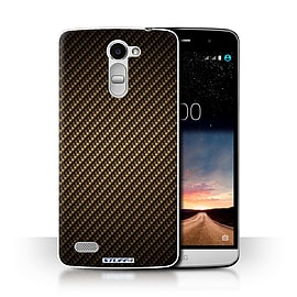 STUFF4 Phone Case/Cover for LG Ray/X190/Gold Design/Carbon Fibre Effect/Pattern Collection Mobile phones