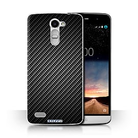 STUFF4 Phone Case/Cover for LG Ray/X190/Grey Design/Carbon Fibre Effect/Pattern Collection Mobile phones