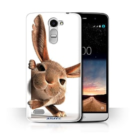 STUFF4 Phone Case/Cover for LG Ray/X190/Peeking Bunny Design/Funny Animals Collection Mobile phones