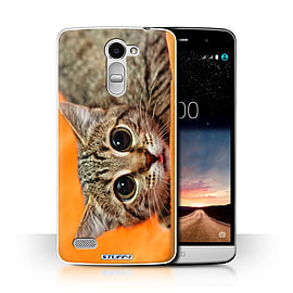 STUFF4 Phone Case/Cover for LG Ray/X190/Big Eye Cat Design/Funny Animals Collection Mobile phones
