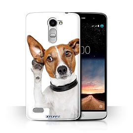 STUFF4 Phone Case/Cover for LG Ray/X190/Listening Dog Design/Funny Animals Collection Mobile phones