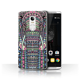 STUFF4 Phone Case/Cover for Lenovo Vibe X3/Elephant-Colour Design/Aztec Animal Design Collection Mobile phones