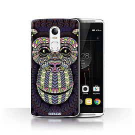 STUFF4 Phone Case/Cover for Lenovo Vibe X3/Monkey-Colour Design/Aztec Animal Design Collection Mobile phones