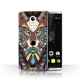 STUFF4 Phone Case/Cover for Lenovo Vibe X3/Wolf-Colour Design/Aztec Animal Design Collection Mobile phones