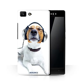 STUFF4 Phone Case/Cover for Oppo R5/Chillin Headphone Dog Design/Funny Animals Collection Mobile phones