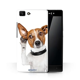STUFF4 Phone Case/Cover for Oppo R5/Listening Dog Design/Funny Animals Collection Mobile phones