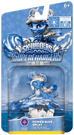 Power Blue Splat - Limited Edition Autism Speaks Skylanders SuperChargers Character Skylanders