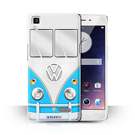 STUFF4 Phone Case/Cover for Oppo R7/Blue Design/VW Camper Van Collection Mobile phones