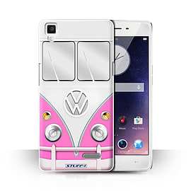 STUFF4 Phone Case/Cover for Oppo R7/Pink Design/VW Camper Van Collection Mobile phones