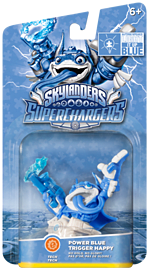 Power Blue Trigger Happy - Limited Edition Autism Speaks Skylanders SuperChargers Character Skylanders